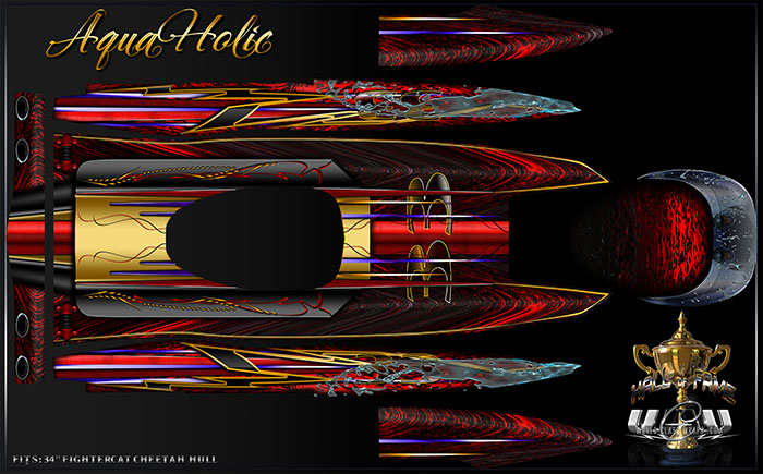 Aquaholic Fightercat rc boat graphics