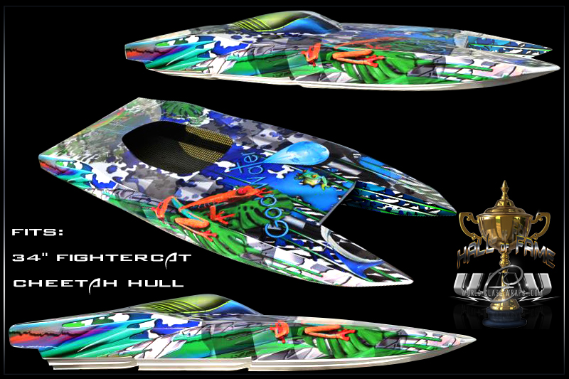 Custom Lagooner Graphics For 34 Quot Inch Fightercat Cheetah