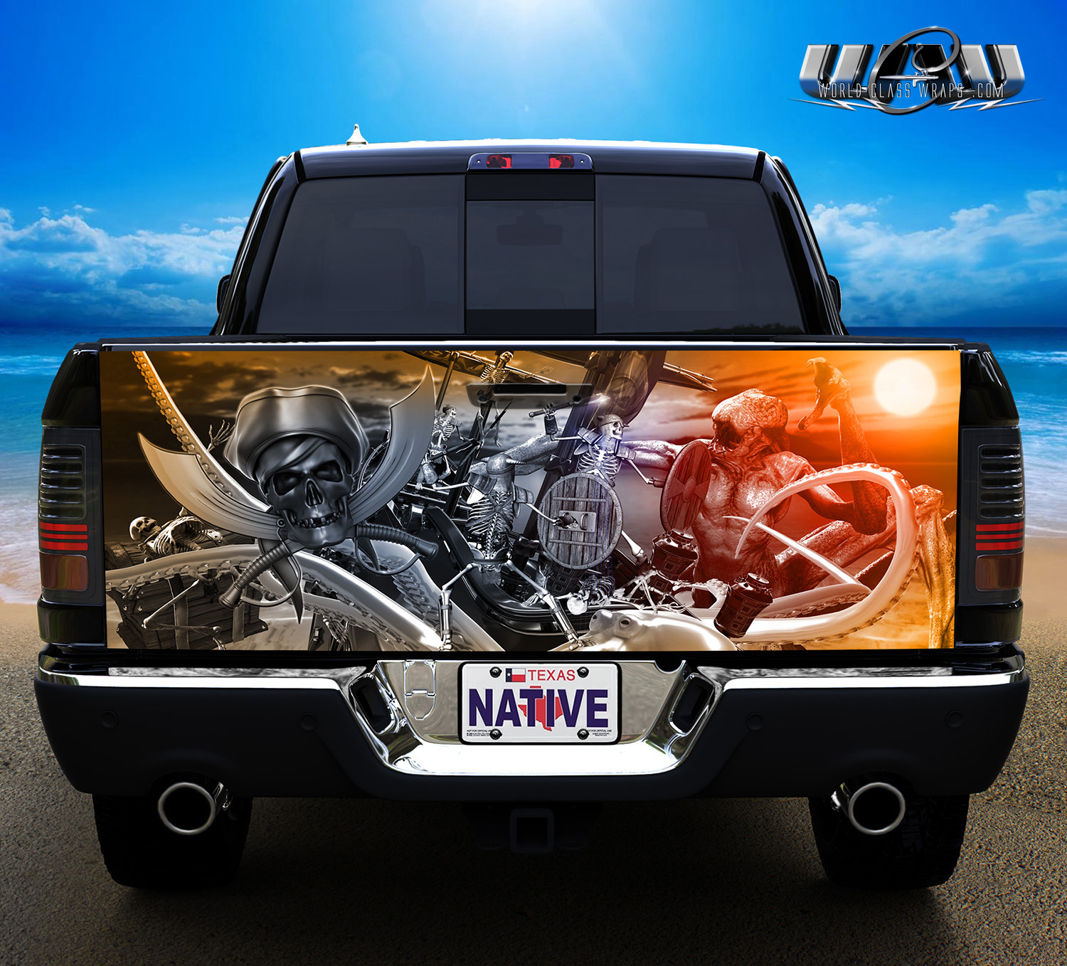 Truck Tailgate Pirates Skeleton Graphics