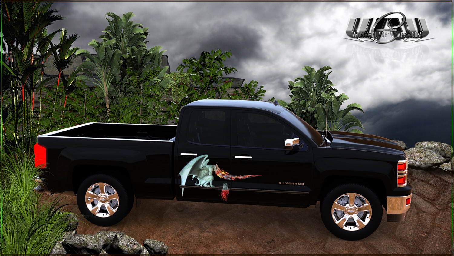 Custom Large Format Mural Wraps For Pickup Trucks And Cars
