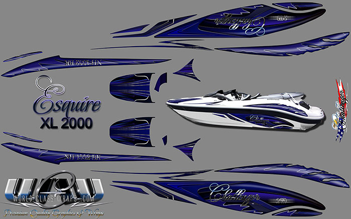 ESQUIRE CHALLENGER 2000 BOAT GRAPHICS