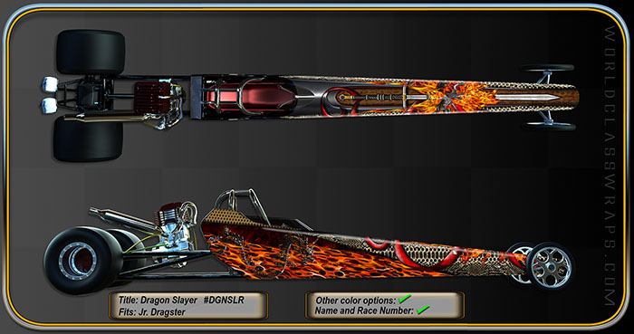 DRAGON SLAYER Jr. DRAGSTER GRAPHICS