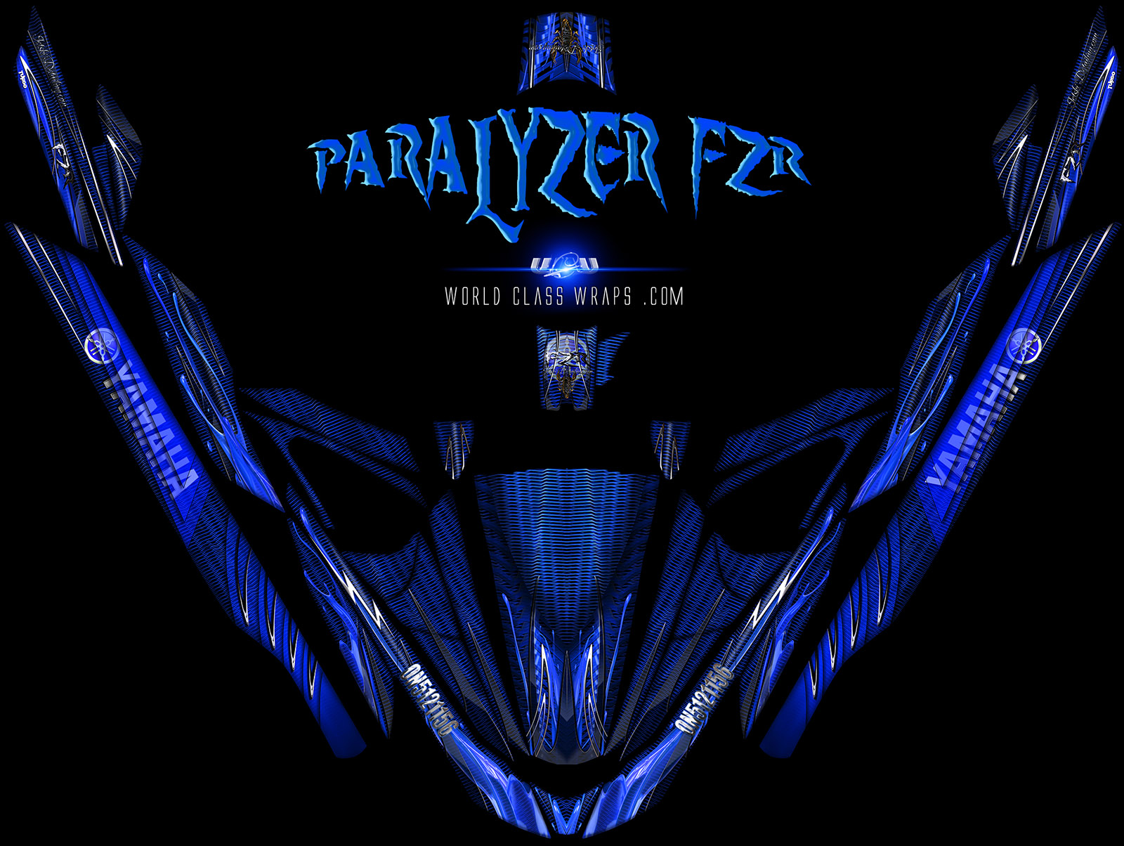 yamaha fzr fzs paralyzer graphics wrap