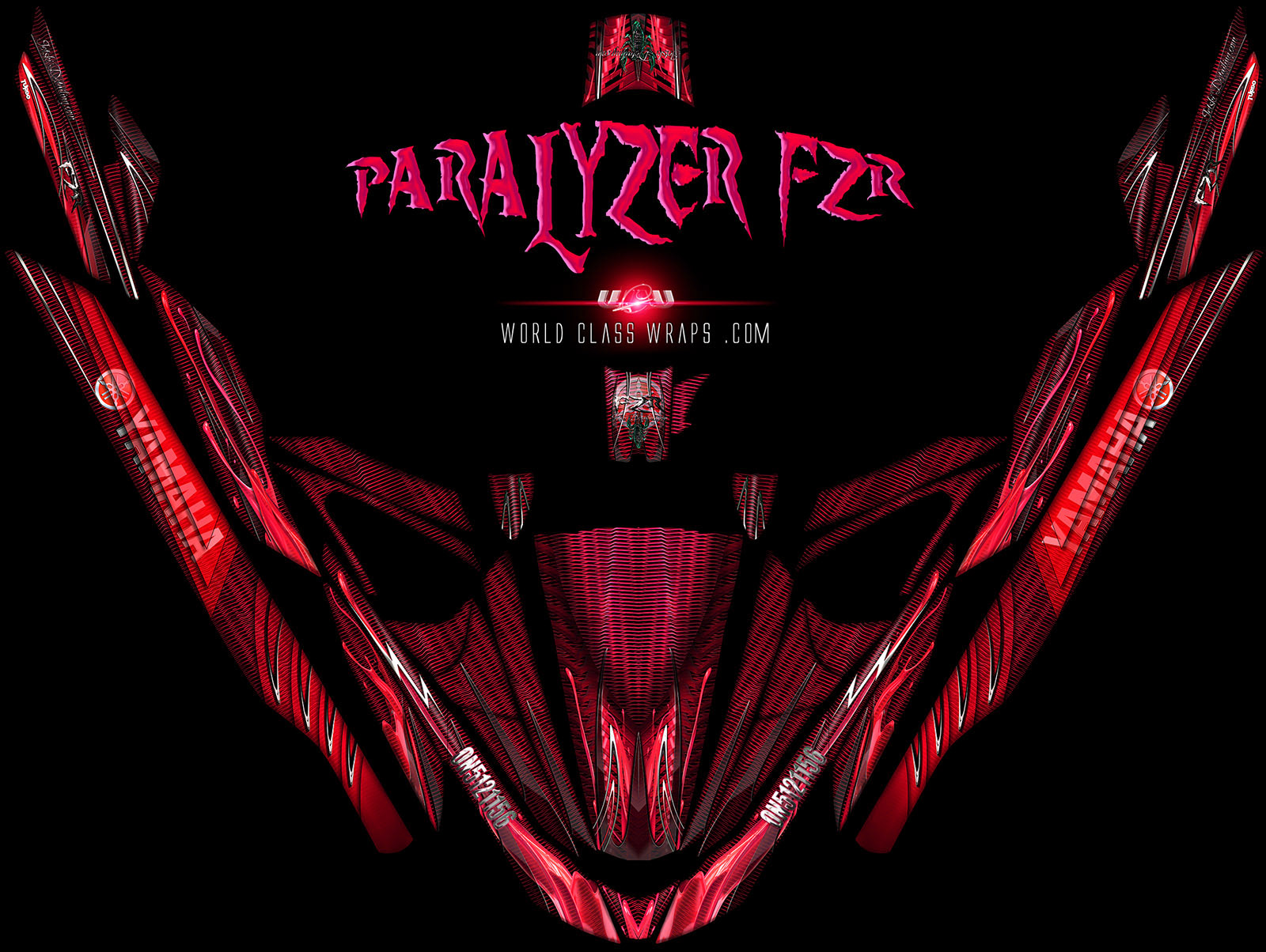 yamaha FZR red Paralyzer jet ski graphics wrap