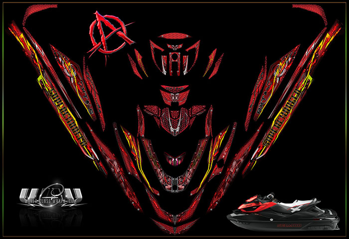Anarchy RXT aS and iS seadoo graphics