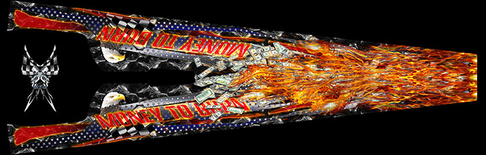 MONEY 2 BURN DRAGSTER GRAPHICS