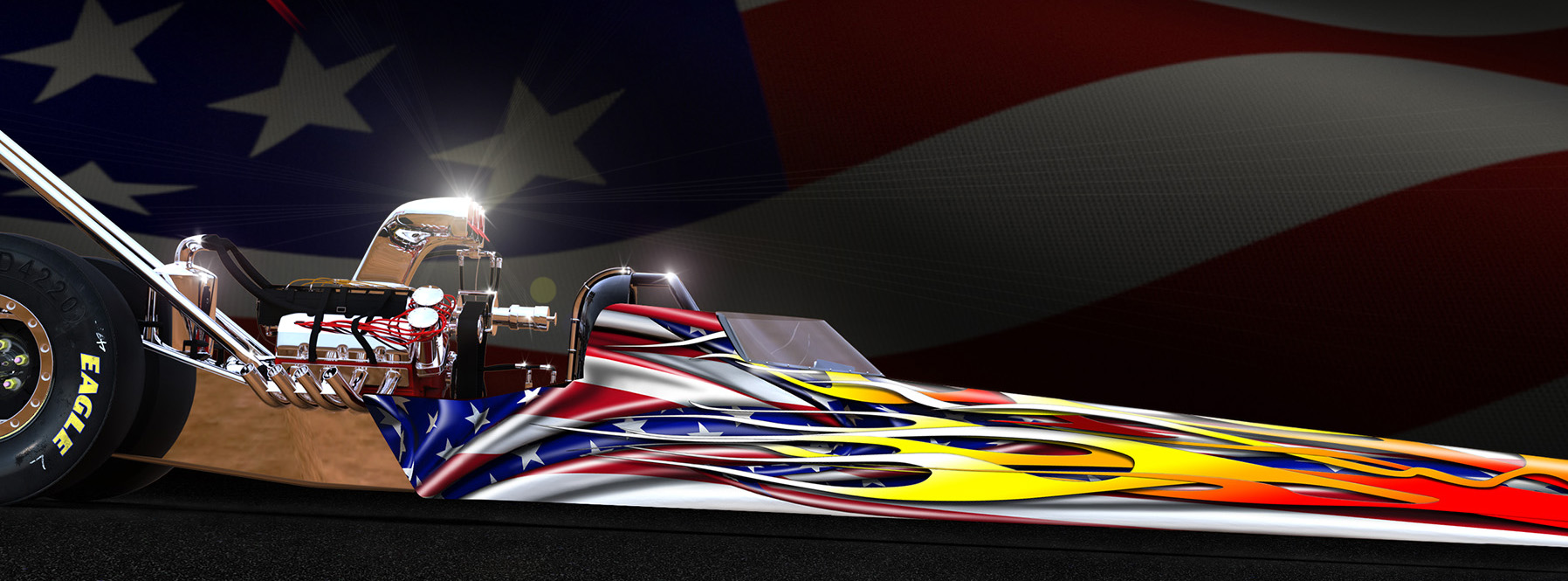 profile image view of Americana dragster wrap