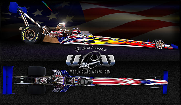 The Americana dragster graphics wrap