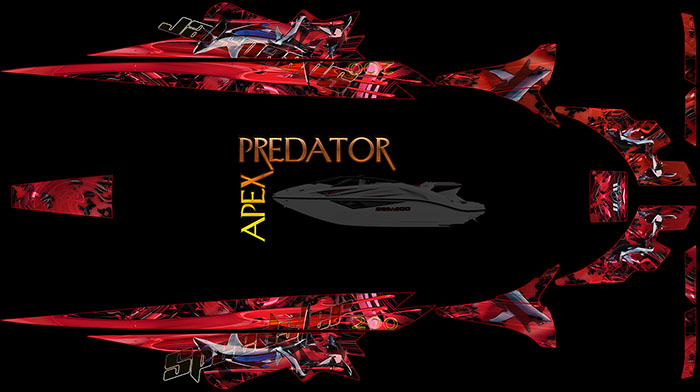 APEX PREDATOR 'SHARK' THEME FOR SPEEDSTER 200 BOAT