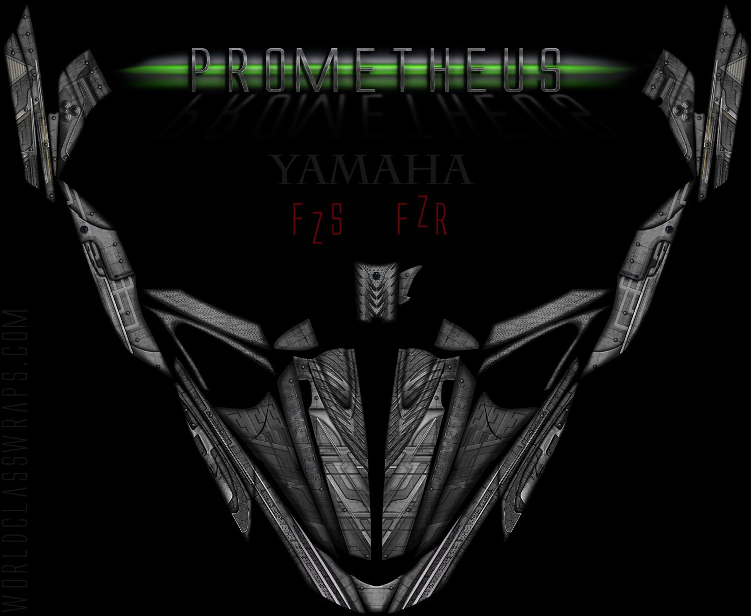 prometheus graphics wrap yamaha fzr fzs wave runner