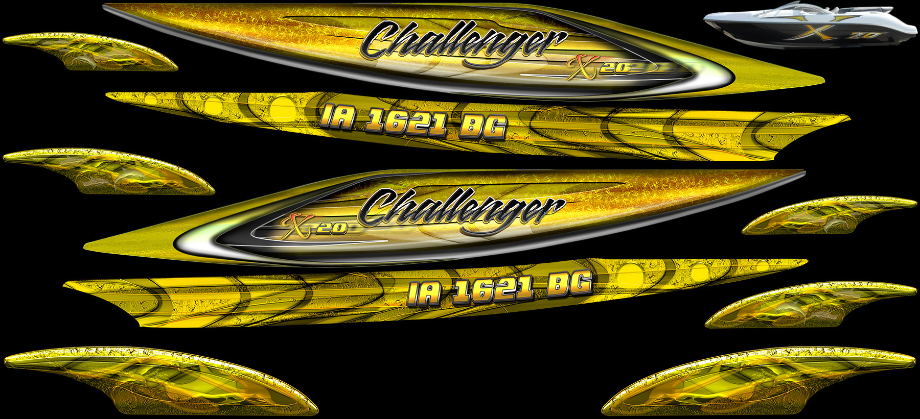 Jetski Detailing custom Sea-Doo Challenger x20 series graphics